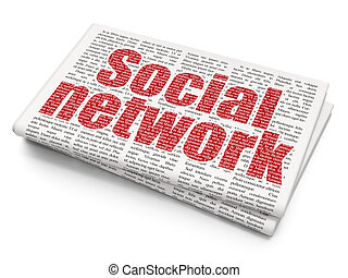 Social media concept: Social Network on Newspaper background