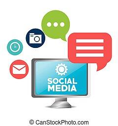 social media concept technology communication