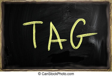social media concept - text handwritten on a blackboard
