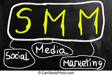 social media concept - text on a blackboard