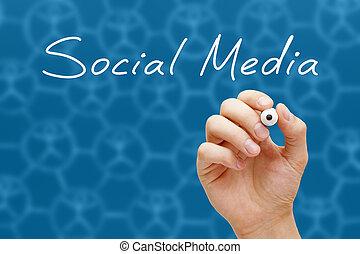 Social Media Concept White Marker