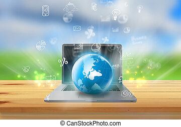 Social media concept.Internet network
