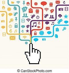 Social media connection concept