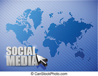 social media connections illustration design