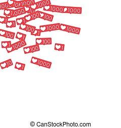 Social media counters.