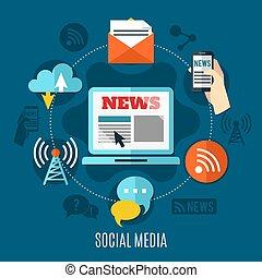 Social Media Design Concept - Social media design concept...