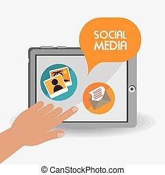 Social media design, vector illustration.
