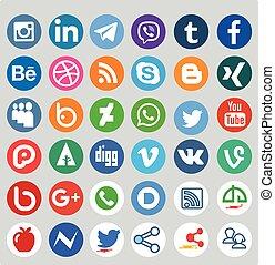Social Media Different Icon Set