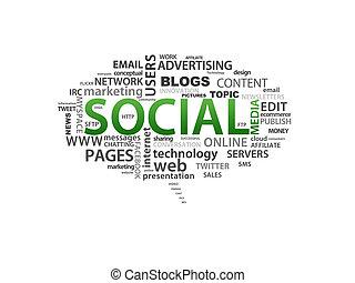 Social Media - High resolution graphic of Social Media...