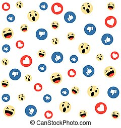 Social Media Face Reaction Emojis background