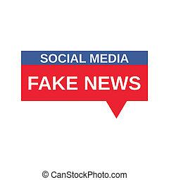 Social Media Fake News sign.