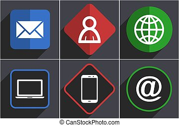 Social media flat design vector icons in eps 10