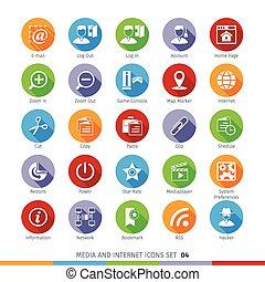 Social Media Flat Icons Set 04