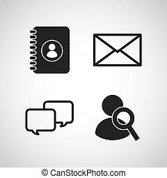 social media flat icons