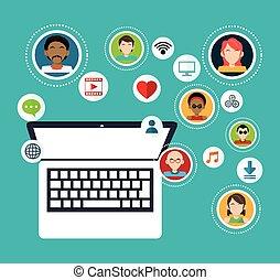 social media group computer communication
