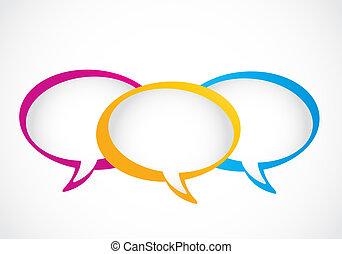 social media group speech bubbles vector