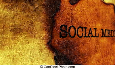 Social media grunge concept