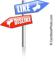Social media guidepost