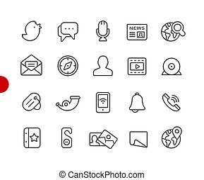 Social Media Icons // Red Point Series