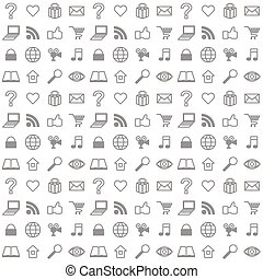 Social media icons seamless vector background