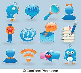 Social media icons set for web design