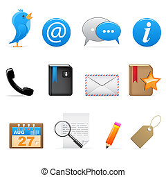 Social media icons - Set of social media communication icons...