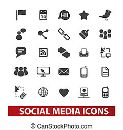 social media icons set , vector