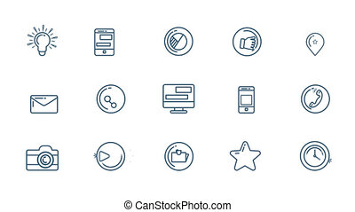 Social Media Icons Set With Alpha Channel