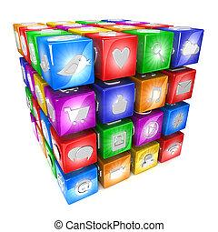 Social Media icons - Colorful Social Media icons