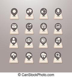 Social media icons vector - Grace Series