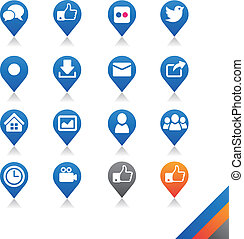 Social media icons vector - Simplicity Series - Three color ...