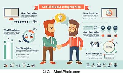 Social Media Infographic Elements. - Social Media...