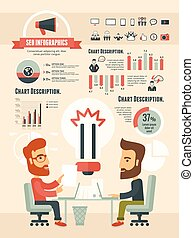 Social Media Infographic Template. Vector Customizable Elements.