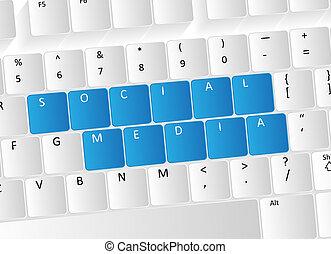 Social Media Keyboard Concept