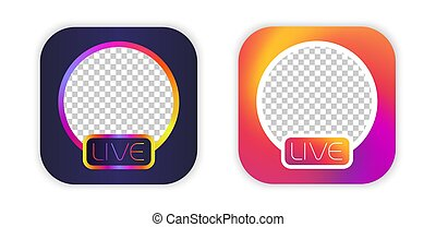 Social media icon avatar live video streaming  live video facebook