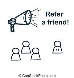 Social media, make friends. Vector illustration in cute style