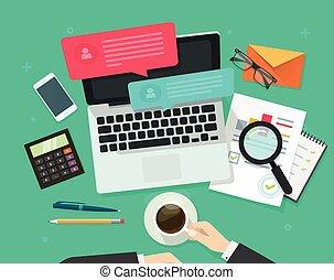 Social media marketing analysing, online dialog, statistics...