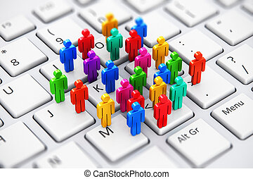 Social media marketing business concept