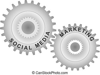 Social media marketing concept.