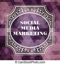 Social Media Marketing Concept. Vintage design.