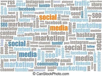 social media marketing tagcloud - social media tagcloud...