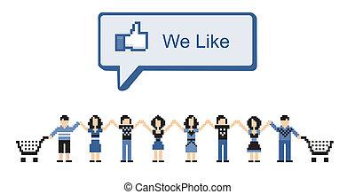 Social Media Marketing - virtual community shopping in...
