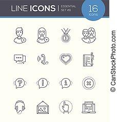 Social media - modern line design style icons set