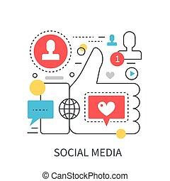 Social media modern vector concept