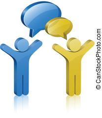 Communication Concept - Social Media Network. Communication...