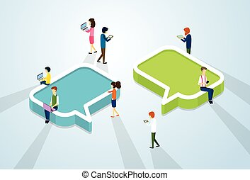 Social Media Network Communication People Crowd