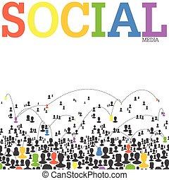Social Media Network Concept. Vector