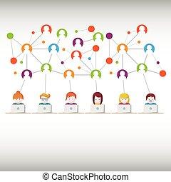 Social Media, network people