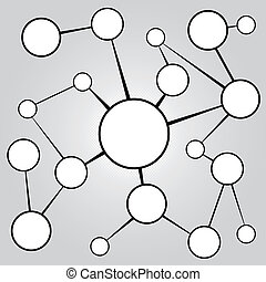 Social Media Networking Chart - An empty flow chart diagram ...