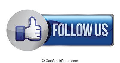 Social media or social network concept follow us,...